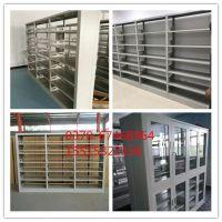 天津图书馆书架批发 钢制喷塑单面双面图书架厂家