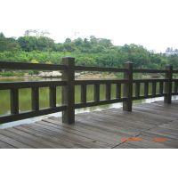 济南历下区水泥仿木护栏 水泥仿木纹护栏定制 市政园林专业栏杆