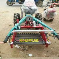 15马力宏燊牌手扶拖拉机土豆收获机 开沟旋耕收获一体机