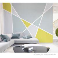 厂家直销3D整张个性几何三角形色块壁画 北欧简约时尚客厅卧室电视背景墙壁纸