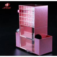 有机玻璃展示架亚克力塑料透明架美甲店展架化妆品收纳盒