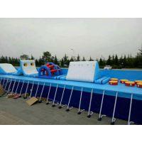 夏天人工安装的支架游泳池哪买 框架游泳池玩具郑州直销 体育广场支架泳池定制