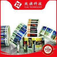 广州厂家电池不干胶定做  光银纸烫金透明PVC 5号7号电池标签