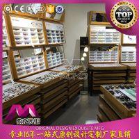 柜台厂家定制太阳眼镜展柜 眼镜陈列展示柜 小型展示柜 木纹展柜
