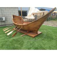 殿宝工艺木船 海盗船 纯手工传统工艺 大型景观木船 园艺亮化船