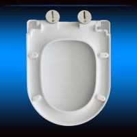 加厚V型 缓降马桶盖 坐便器盖板 塑料圆头尖头盖板