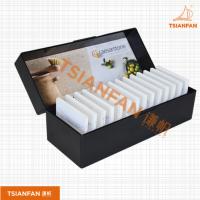 宜度厂家直销塑料黑色塑料精美石材样品盒PX114