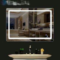 智能LED灯镜圆形浴室镜洗漱台厕所镜卫生间镜子壁挂防雾卫浴镜