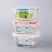 玻璃保鲜盒厂家直销 便当盒 玻璃保鲜碗定做