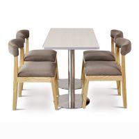 海德利 美式乡村实木餐桌 铁艺长方形会议办公电脑桌复古大班桌 餐厅桌椅组合