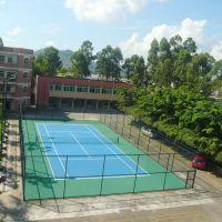 惠州篮球场护栏网哪有批发 4米高运动场围栏价格 墨绿色围网定购