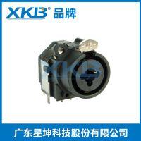 三芯麦克风面板卡侬座(XLR)话筒音频调音台功放插座母座