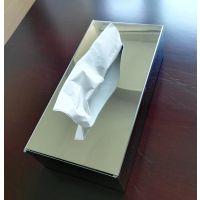 镜光面抽纸巾箱、可固定在墙上抽取的面巾纸盒、长方形304不锈钢餐厅取纸器