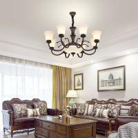 美式玻璃客厅卧室书房餐厅乡村铁艺简约复古灯具
