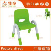 幼儿学习桌椅 儿童塑料靠背椅凳子 塑料坐椅厂家 幼儿园椅子
