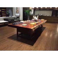 福州厂家鼓歌木业直销家具巴花大板整木实木无拼接简约环保大气可定做