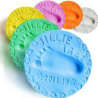 跨境爆款儿童益智玩具橡皮泥超轻粘土宝宝手印泥脚印泥20g24色