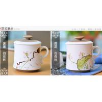 教师专用茶杯批发 过滤陶瓷杯价格 景德镇建源陶瓷杯子定制厂家
