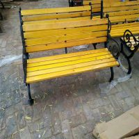 沧州绿美生产户外休闲椅 公园椅子园林小区路椅 铸铝防腐实木塑木座椅