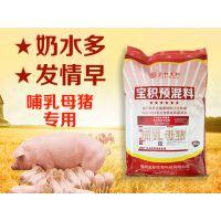 哺乳母猪饲料产奶多质量好 猪预混料批发零售