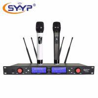 SYYP思音UR-690 真分集100米舞台演出一拖二手持无线话筒,专业无线麦克风厂家