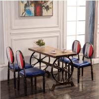 主题餐厅工业风餐桌椅 复古餐桌餐椅定做厂家