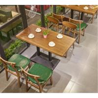 倍斯特简约现代复古做旧咖啡厅实木餐桌 西餐厅茶餐厅甜品店餐饮桌椅厂家定制