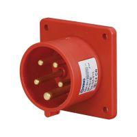 启星QX-815 5芯16A防护IP44工业暗装插头
