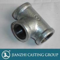 厂家直供唐山建支牌镀锌可锻铸铁管件三通质优价廉欢迎采购