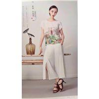 杭州一线品牌水墨生香18夏 时尚真丝连衣裙折扣货源