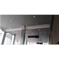 雷克萨斯4S店售后维修区展厅铝方通_品牌背景墙木纹铝单板