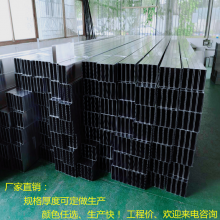 新款木纹铝方通天花图片 U型木纹色铝条板吊顶