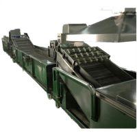 正康机械厂家直供不锈钢全自动一体式蔬菜清洗沥干流水线 可加工定制