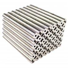 耀恒 方形沉孔磁铁 圆形包装盒单面强力磁铁片 磁环钕铁硼强磁服装磁铁扣