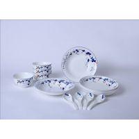 陶瓷家用中式碗碟盘勺套装和瓷青花瓷心想事成餐具商务庆典会议开业礼品