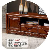 新款上市柜批发 全电视现代中式型 实木 美加顺家装建材客厅家具视听柜