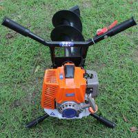 单人汽油挖树机 拖拉机机立柱植树挖坑机 乐丰牌