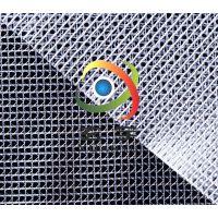 现货供应500D2.1米宽度PVC透明夹网布 PVC透明网格布 80米起订