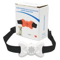 热销彩色蝴蝶形状白色802新款自动语音声控震动止吠器训狗器项圈
