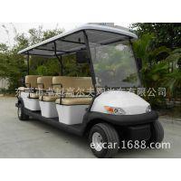 卓越 牌新能源红褐色6座观光A1S6|电动车四轮高尔夫球车|景区旅游电瓶车