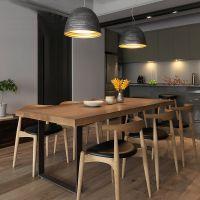 现代实木餐桌多人酒店长条桌子简约现代吃饭桌小户型餐厅桌椅定制