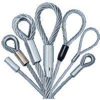 神州SW258镀锌钢丝绳插编索具 无油压制钢丝绳套索具 包胶钢丝绳吊具