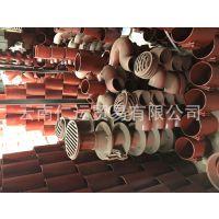 W型柔性铸铁管正三通100x100x75厂家直销