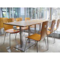 吴忠市食堂桌椅,简约现代美食城桌椅组合定制