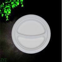 一次性餐具 可定制环保可降解 圆盘 外贸出口