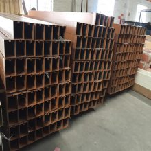 吉林恒大售楼部吊顶欧百得木纹铝方通生产厂家