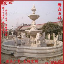 惠安厂家销售 景观摆件 黄锈石水钵喷泉 景观双层埃及米黄叠水钵