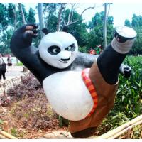 动画雕塑,功夫熊猫,东莞雕塑厂,玻璃钢卡通工艺品