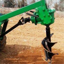 河北拖拉机配套打坑机 大型车载式挖坑机 悬挂式打孔机