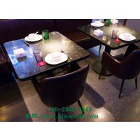 美式乡村大理石餐桌主题餐厅长方形圆形餐桌椅组合厂家定制